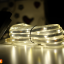 E04 ไฟสายยางโซล่าเซลล์ 100 SMD LED สีวอร์ม thumbnail 3