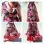 MAXI DRESS ชุดเดรสยาว พร้อมส่ง พื้นสีดำ ผ้าชีฟอง ลายดอกไม้สีโทนแดงทั้งชุด คอวี จั้มช่วงหน้าอก ชายกระโปรงมีสองชั้น สวย thumbnail 7