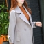 เสื้อโค้ทแฟชั่น Overcoat พร้อมส่ง สีเทา คอปก สุดเท่ห์ แต่งสายคาดเอวด้านหลัง กระดุมหน้าเก๋ คัตติ้งสวย เนื้อผ้าดีมากค่ะ thumbnail 1