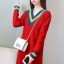 เสื้อกันหนาวไหมพรม พร้อมส่ง สีแดง คอเสื้อวี สลับสีเก๋ แขนยาว ถักลายลูกโซ่ด้านหน้า น่ารักๆ ใส่กันหนาวได้ค่ะ thumbnail 4
