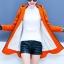 เสื้อกันหนาวสีส้ม ผ้าฟลีซ พร้อมส่ง มีฮูท อินเทรนสุดๆ สำหรับหนาวนี้ ใส่สบาย แบบเรียบเก๋ ซิบรูดใช้งานได้สะดวก thumbnail 3