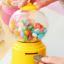 Candy Machine เครื่องหมุนลูกกวาด พร้อมเป็นกระปุกออมสิน สีเหลือง thumbnail 4