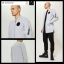 Reserved long zip up sweatshirt with patches Jacket thumbnail 1