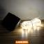 E04 ไฟสายยางโซล่าเซลล์ 100 SMD LED สีวอร์ม thumbnail 1