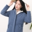 เสื้อกันหนาว มีฮูท รูดซิป กระดุมหน้าแป๊ะหน้า สีน้ำเงิน พร้อมส่ง thumbnail 1