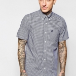 Classic gingham shirt Col : medieval blue