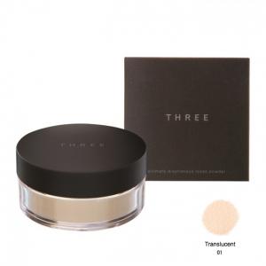 THREE ULTIMATE DIAPHANOUS LOOSE POWDER สูตร Translucent เบอร์ 01 ผิวขาว