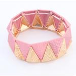 สร้อยข้อมือสามเหลี่ยมสีชมพู