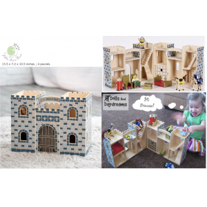 Melissa and Doug Fold and Go Wooden Castle