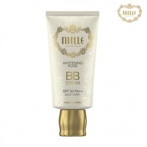 Mille Whitening Rose BB Cream No.1 Silky Ivory (สินค้ามีลิขสิทธิ์ไทย มี อย. และ ติดสติกเกอร์ สคบ.)