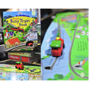 Pull-Baclk Busy Train Book