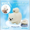 MO132 iBloom White Bear Family - moni moni animals