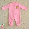 ไซส์ 3-6 เดือน ชุดหมีเด็กแบบคลุมเท้า แขนยาว - สีชมพู