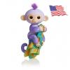 DA009 (ของแท้) wowwee Glitter fingerling ตุ๊กตาลิง มีชีิวิต -สีม่วง