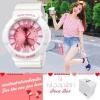 Poca Watch S SPORT นาฬิกาข้อมือ ดิจิตอล สายยาง ผู้หญิง เท่ๆ กันน้ำได้- Po LadySw-GP92WP (White/Pink) (รหัส 2iG9tvX)