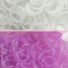 ยางซิลิโคน100% UV เปลี่ยนสี ม่วง 200 เส้น / Silicone Rubber loom UV Purple