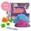 PW122 ทรายนิ่ม Soft Sand Play Sand sweet ทรายคละ 2 สี น้ำหนักรวม 500 กรัม พร้อมอุปกรณ์