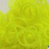 ยางซิลิโคน 100% (เหลืองอ่อน) 300 เส้น / Silicone Rubber loom (Light Yellow )