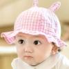 ไซส์ 6-18 เดือน หมวกเด็กผู้หญิงฤดูร้อน - สีชมพู