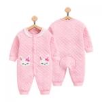 ไซส์ 0-3 เดือน ชุดหมีเด็กแบบกันหนาว สีชมพูหวาน