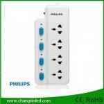 รางปลั๊กไฟ Philips 4 ช่องเสียบ 4 สวิตช์ 2m