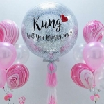 will you marry me balloons พร้อมช่อประดับ