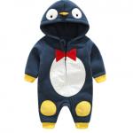 ไซส์ 6-9,9-12 เดือน ชุดหมีกันหนาวมีฮูดน่ารัก ลายเพนกวิน