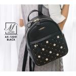 กระเป๋าเป้แฟชั่นนำเข้าสุดน่ารัก สีดำ