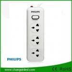 รางปลั๊กไฟ Philips 3 ช่อง 1 สวิตช์ สายยาว 2 เมตร