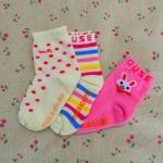 ถุงเท้าเด็ก ลาย mikihouse ขนาด 12 ซม.