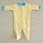ไซส์ 6-9 เดือน ชุดหมีเด็กคลุมเท้าแขนยาว สีเหลือง