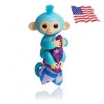 DA006 (ของแท้) wowwee Glitter fingerling ตุ๊กตาลิง มีชีิวิต -สีฟ้า