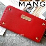 Mango Saffiano Effect Wallet with Studded กระเป๋าสตางค์ แต่งมุด หนังสุดหรู New Collection 2015 ยี่ห้อ MANGO แท้ สีแดง
