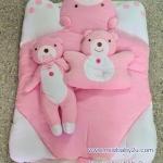ที่นอนเด็ก ผ้าขนหนู สีชมพู