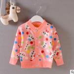 ไซส์ 9-12 เดือน 1-2,2-3 ปี เสื้อกันหนาวเด็กแบบติดกระดุมหน้า ผ้าสำลีนิ่ม ไม่คัน
