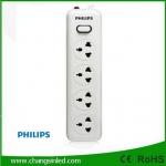 รางปลั๊กไฟ Philips 4 ช่อง 1 สวิตช์ สายยาว 2 เมตร