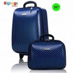 Wheal กระเป๋าเดินทาง ล้อลาก เซ็ทคู่ 20 นิ้ว/14 นิ้ว รุ่น Spot F7719 (Blue) (รหัสสินค้า 2Buav6S)