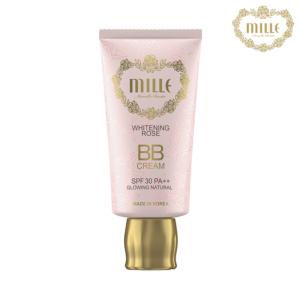Mille Whitening Rose BB Cream No.2 Glowing Natural (สินค้ามีลิขสิทธิ์ไทย มี อย. และ ติดสติกเกอร์ สคบ.)