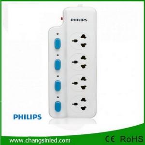 รางปลั๊กไฟ Philips 4 ช่องเสียบ 4 สวิตช์ 3m.