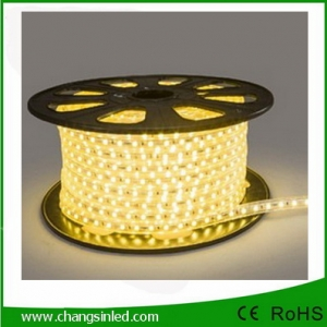 ไฟเส้น LED แบบแบน ROPELIGHT SMD 5050/6.5mm AC 220v.Warm White ยาว 100เมตร