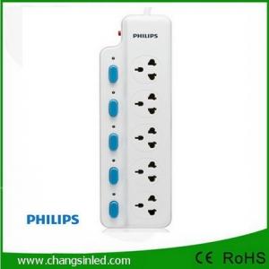 รางปลั๊กไฟ Philips 5 ช่องเสียบ 5 สวิตช์ 2m.
