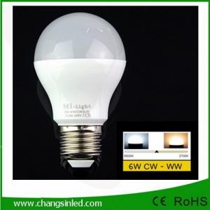 หลอดไฟ LED ไร้สาย Mi Light Wifi Bulb 6W เปลี่ยนเฉดแสงโทนขาวเป็นโทนวอร์ม
