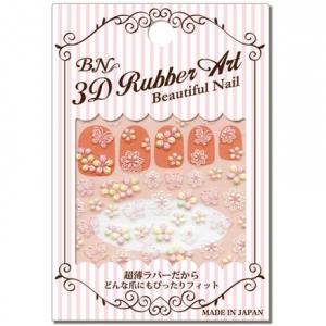 BUR-8 3D Rubber Art Beautiful Nail สติกเกอร์ติดเล็บลายนูน