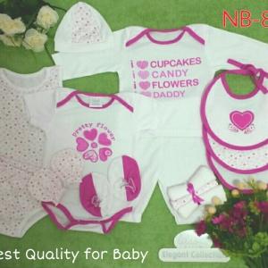เซทเด็กเล็ก 14 ชิ้น สีชมพู ไซส์ 0-3 เดือน
