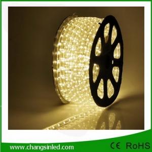 ไฟยาง LED Rope Light 36 leds แบบกลม 2 แกน แสง Warm white