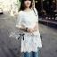 Dahong white chill out circle lace Mini dress L136-49A12 thumbnail 2