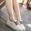 รองเท้าผ้าใบแฟชั่นแพลตฟอร์ม ทำจากผ้าใบสีทูโทนสดใสด้านนอก-ใน thumbnail 10