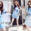 Lady Julie Sporty Style Printed and Sequin Denim Dress L254-75C01 thumbnail 8