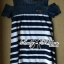 Lady Rita Casual Style Cut-Out Denim Striped Dress L213-65C05 thumbnail 9
