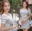 DR-LR-122 Lady Cherline Smart Casual Striped Lace Dress thumbnail 10